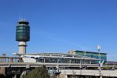 Vancouver, BC Canada - September 13, 2014 :Air Traffic Control tower at YVR airport in Vancouver BC Canada.