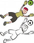 vector soccer player - goalkeeper