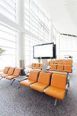 modern airport waiting hall interior