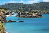 image of mendocino  - A view of an islet in the bay of Mendocino - JPG