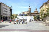 Saragossa. Area  Plaza Del Pilar