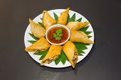 stock photo of thai food  - Por Pieer Tod with cheese inside  - JPG