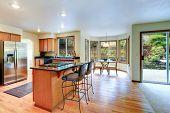 Bright Kitchen Room Interior