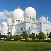 View Of Famous Sheikh Zayed Grand Mosque