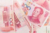 Chinese 100 Yuan Renminbi Banknotes