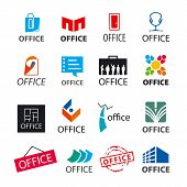Big Set Of Vector Icons Office