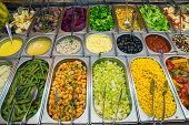 picture of buffet  - A nice salad buffet seen in a restaurant - JPG
