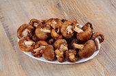 Raw Shiitake mushrooms