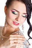 Portrait Of A Beautiful Young Woman With An Evening Makeup