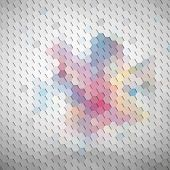 Colorful geometric background, abstract hexagonal pattern vector