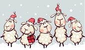 christmas border with rams