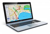 GPS navigation on laptop