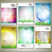 Abstract world globe background. Brochure, flyer or report for business, template vector