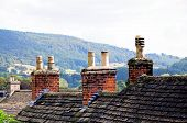 Cottage rooftops, Bakewell.