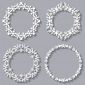 Set Of Four Circular Frames For Your Design