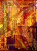 pic of abstract painting  - Image of a Large scale Abstract painting On Canvas - JPG