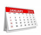 2015 Calendar. January
