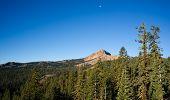 Vertical Composition Moonrise Brokeoff Mountain Lassen National Park California