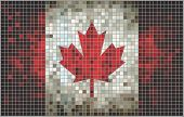 The National Flag of Canada, mosaic