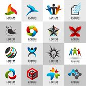Logo Web Icon Set and vector identity
