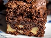 Delicious Brownie Made Of Chocolate