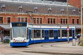 Tram In Amsterdam, Netherlands