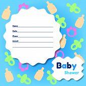 Stylish Baby Shower Invitation Card