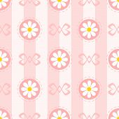 Pastel Seamless Pattern with Chamomiles