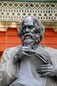 KOLKATA - FEBRUARY 15: Monument of Rabindranath Tagore on February 15, 2014 in Kolkata, India, he became the first non-European to win the Nobel Prize in Literature in 1913.