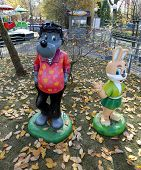Statues Of The Wolf And Hare