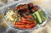 Buckwheat cutlets with vegetables.
