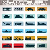 picture of fighter plane  - Military Icons Set - JPG