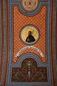 TRAVNIK, BOSNIA AND HERZEGOVINA - JUNE 11: Saint Francis Xavier, fresco on the ceiling of the church of St. Aloysius in Travnik, Bosnia and Herzegovina on June 11, 2014.