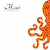 Background with octopus