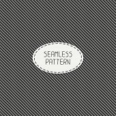 Vector retro diagonal stripes geometric seamless pattern. Vintage hipster striped.