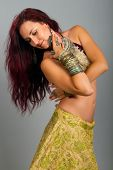 Beautiful Girl Belly Dance Movemen