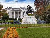 Jackson Statue Canons Lafayette Park White House Autumn Pennsylvania Ave Washington Dc