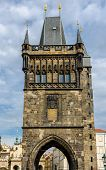 The gothic Powder tower in Prague, Czech Republic.