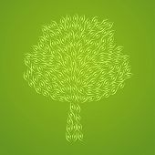 Abstract Tree Pattern Green Monochrome