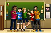 Multi-ethnic Students In The Classroom