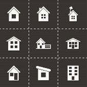 Vector house icon set