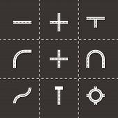 Vector road elements icon set