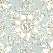 stock photo of pastel  - Illustration of a beautiful elegant floral pattern in pastel colors with a high degree of detail - JPG