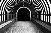 picture of pedestrians  - A view pedestrian tunnel which was built for pedestrians - JPG
