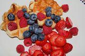 Waffle de pequeno-almoço