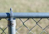 picture of chain link fence  - Steel chain - JPG