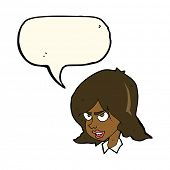 picture of annoying  - cartoon annoyed woman with speech bubble - JPG