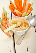 pic of carrot  - fresh hummus dip with raw carrot and celery arab middle eastent healthy food - JPG