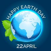 pic of earth  - illustration of a shiny earth for Happy Earth Day - JPG