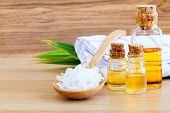 stock photo of massage oil  - Natural Spa Ingredients  - JPG